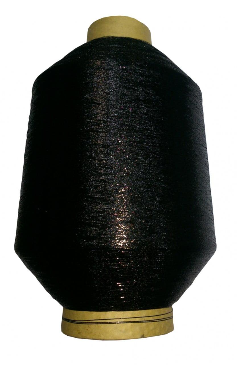 Fio Lurex Preto (importado) cone de 50 grs