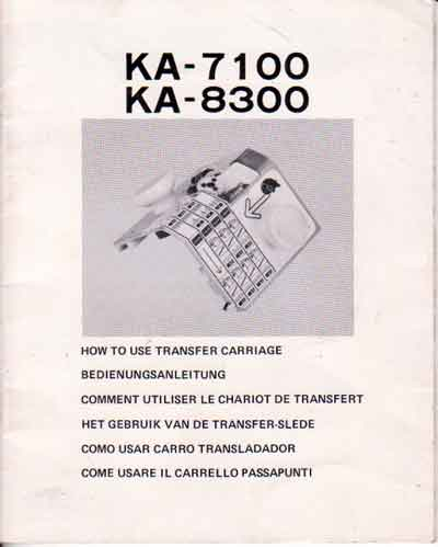 Manual Carro Transferidor Elgin em Espanhol