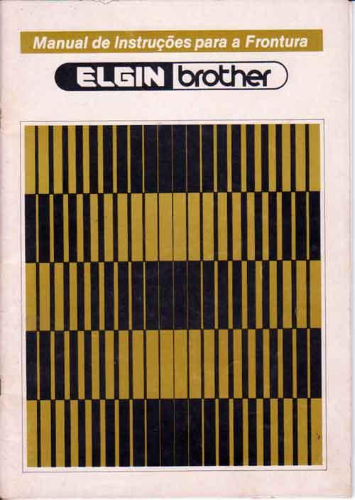 Manual Frontura (pente) Elgin mod 840 em Potugues