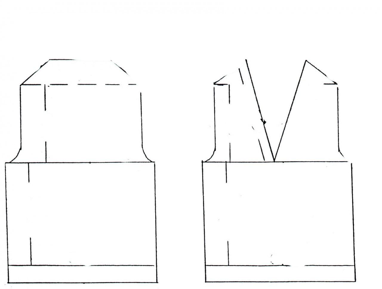 Receita de Tricô a Máquina - Nº 17 - Conjunto Calça e Colete decote V tam.1 e 2 anos