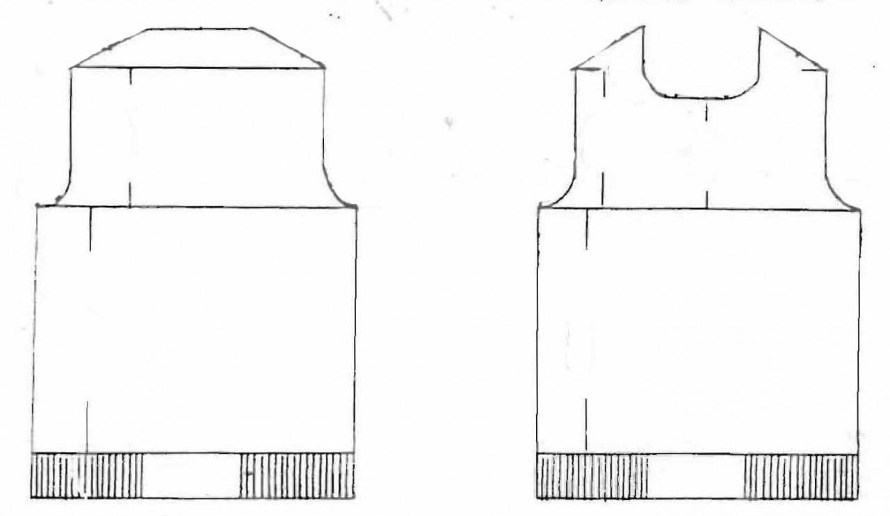 Receita de Tricô a Máquina - Nº 187 - Blusa c/ Manga Curta e Decote Redondo Tam. 42 / 44