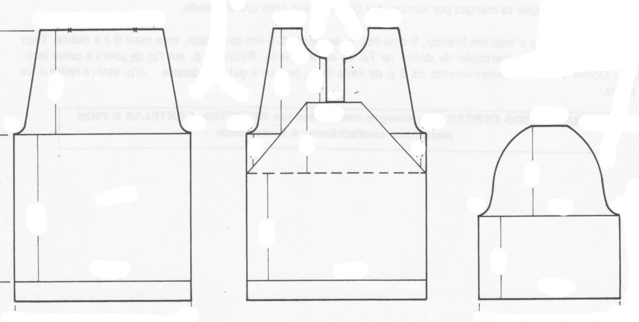 Receita de Tricô a Máquina - Nº 85 - Blusa dec.Redondo manga curta tam.42