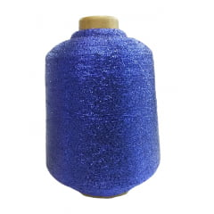 Fio Lurex Azul (importado) cone de 50 grs